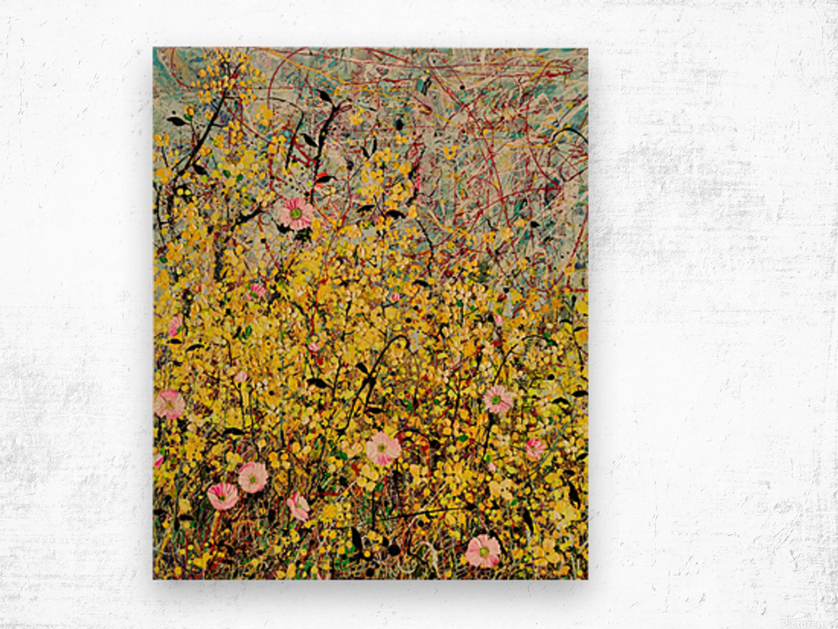 Symphony in Yellow Panel 1 Wood print