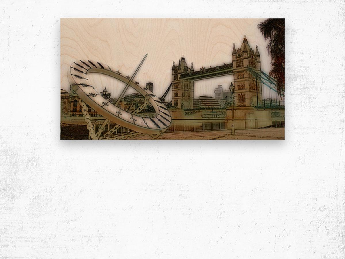 London fine art  - Tower bridge Impression sur bois
