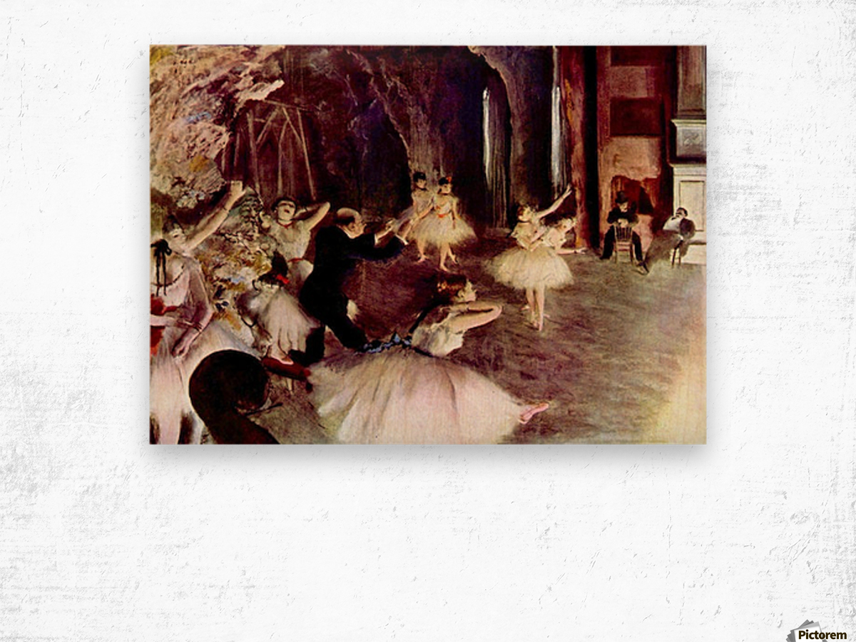 Stage trial by Degas Wood print