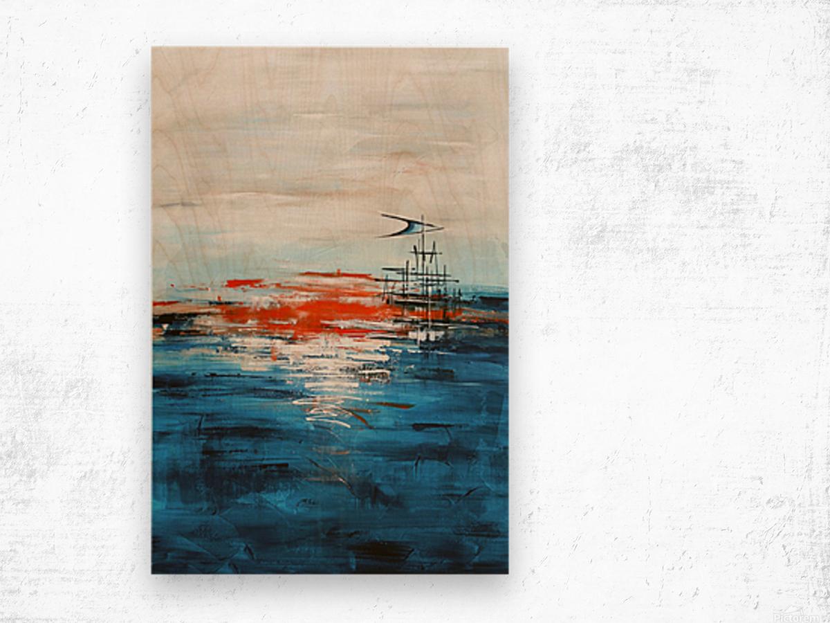 High tide IV Wood print