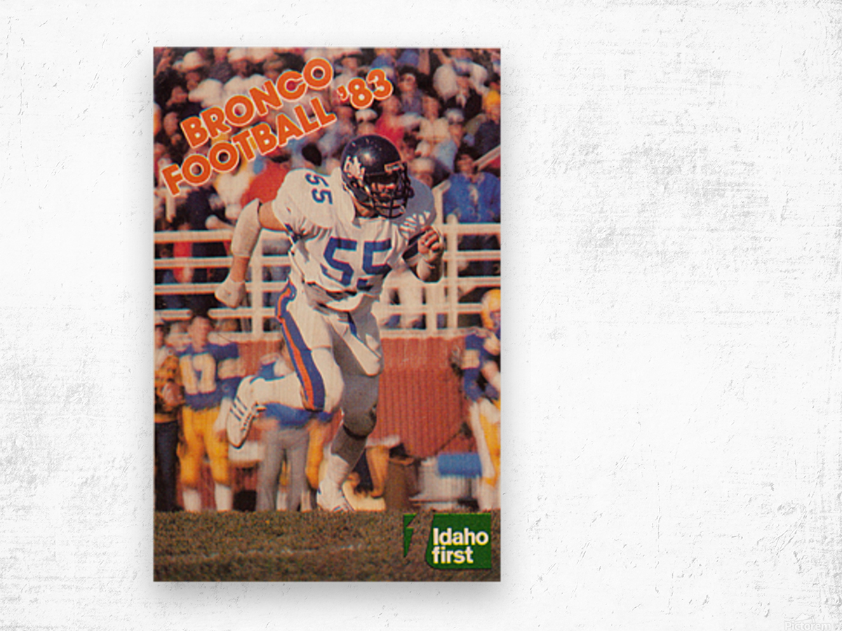 1983 Boise State Broncos Carl Keever Football Poster Wood print
