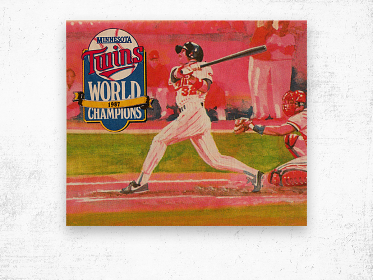 1988 Minnesota Twins Baseball Art Wood print