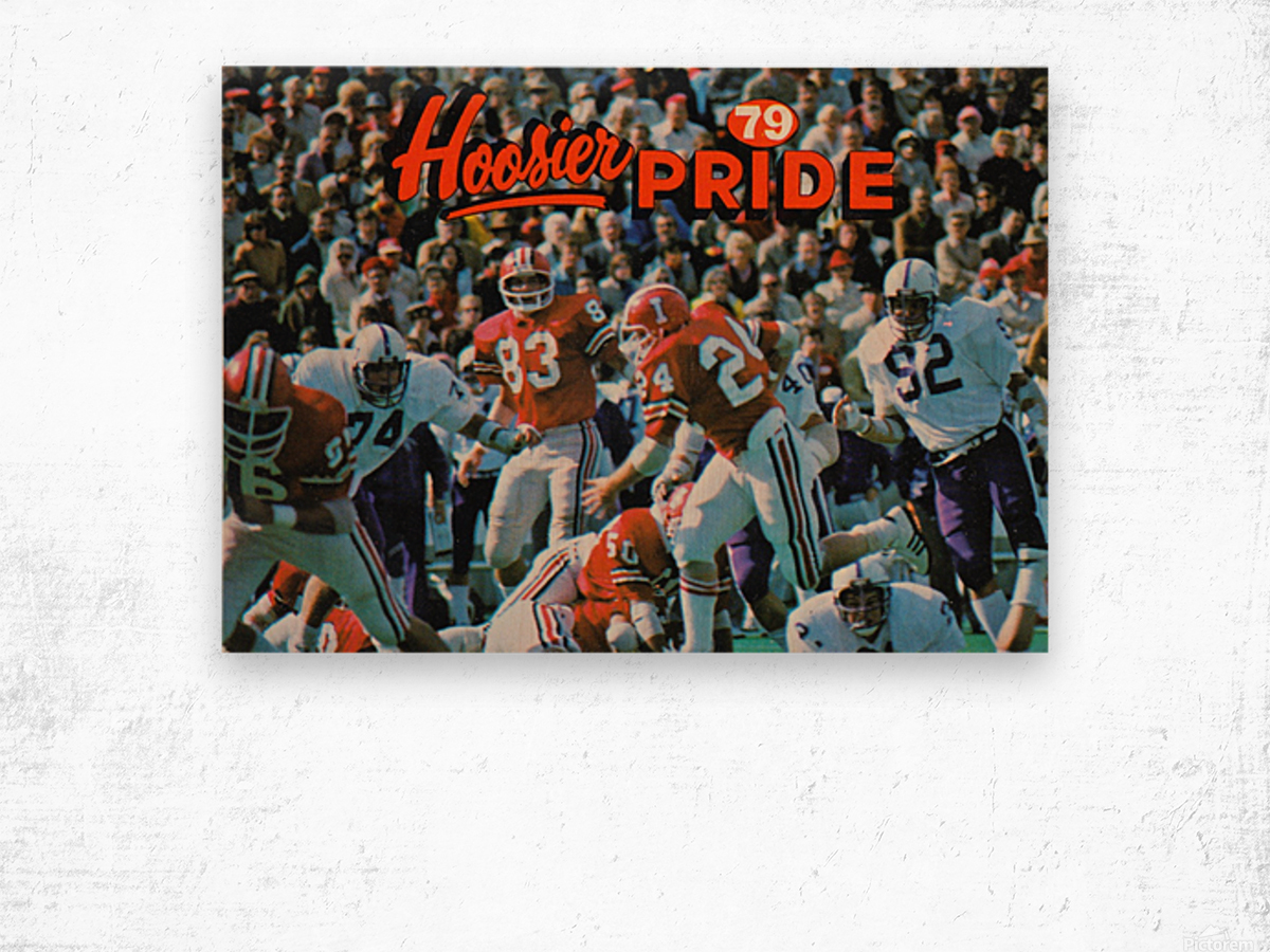1979 Indiana Hoosiers Football Art Wood print