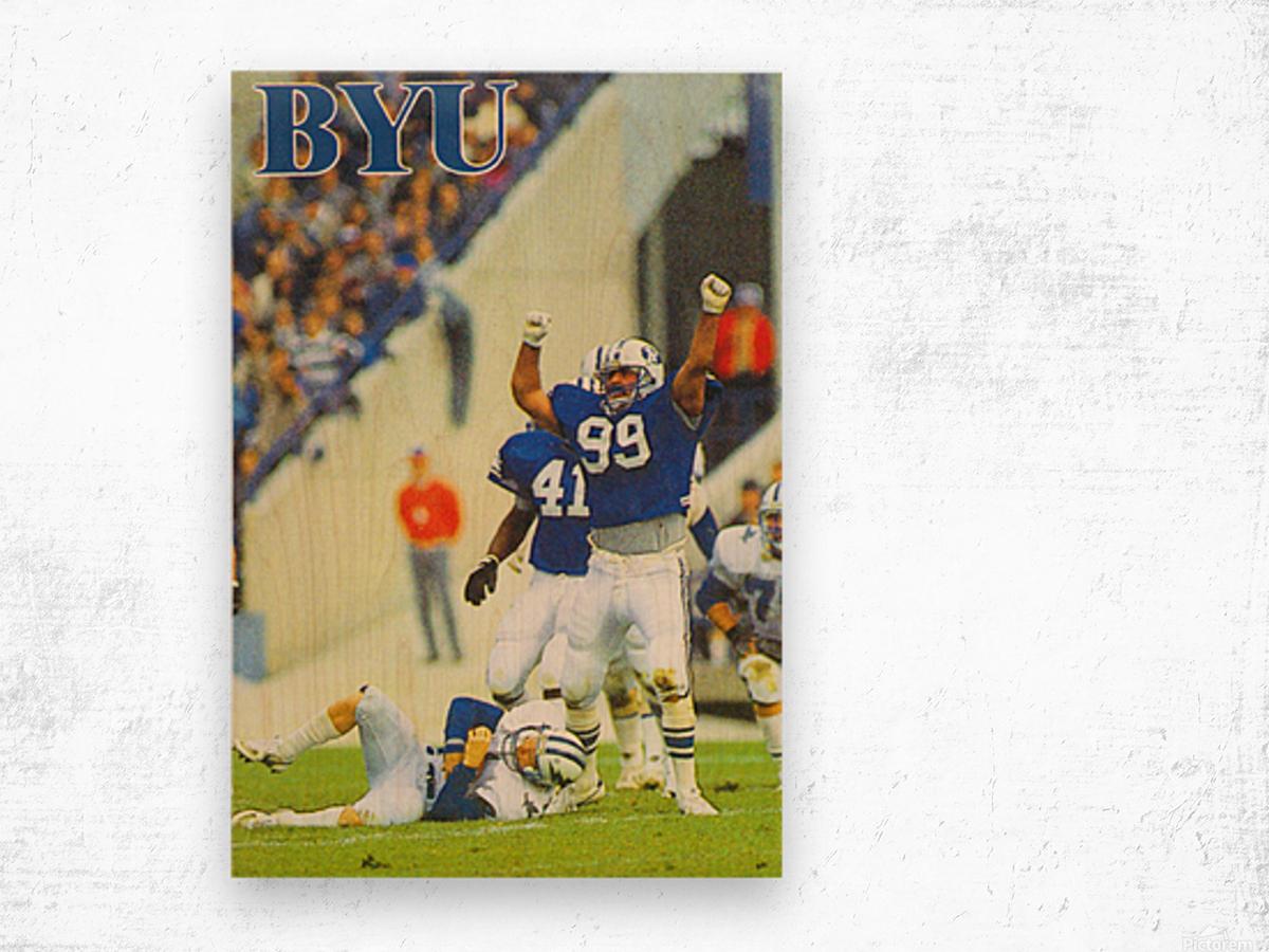 1986 BYU Cougars Football Poster Wood print