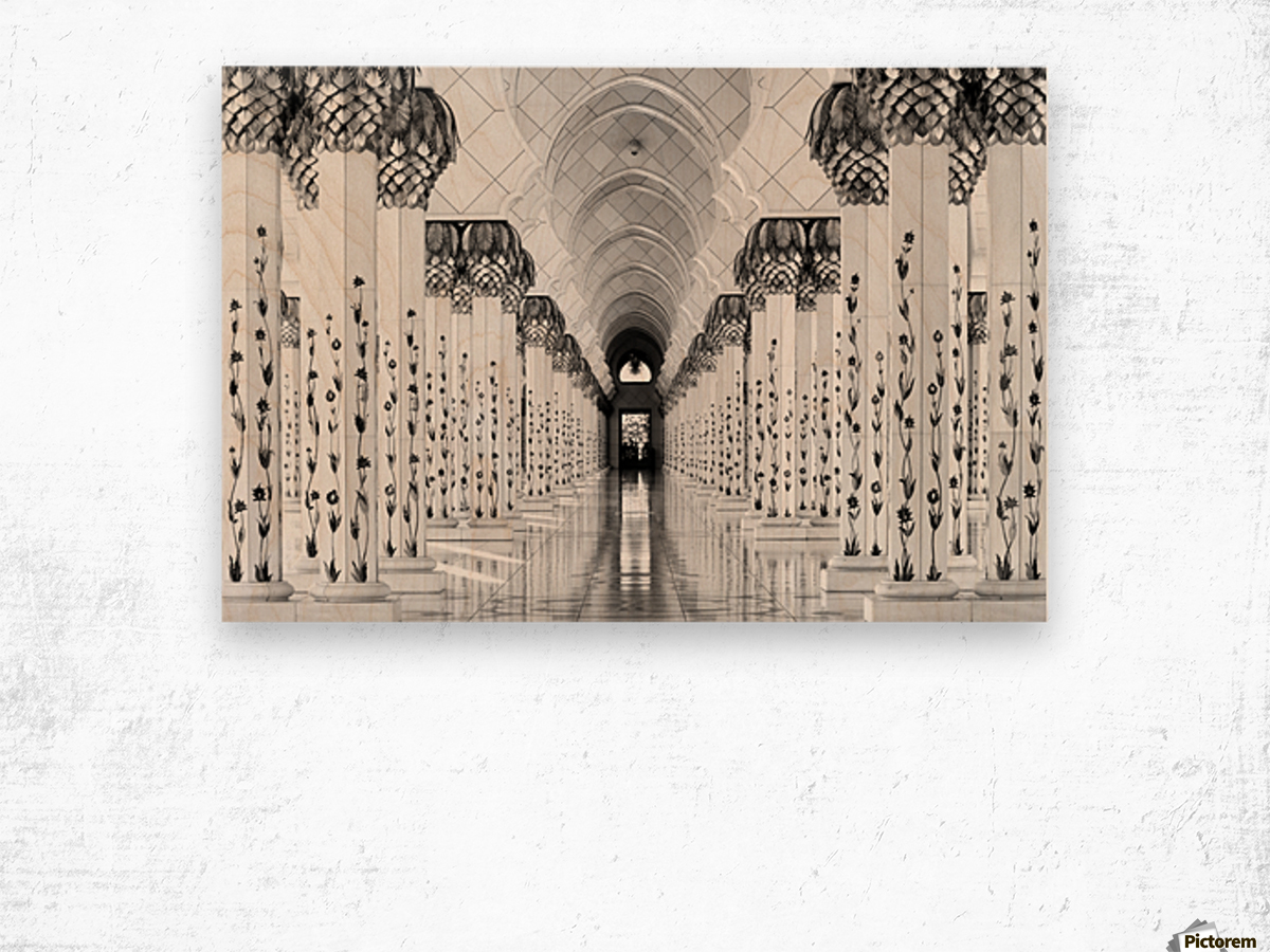Sheik Zayed Mosque Wood print
