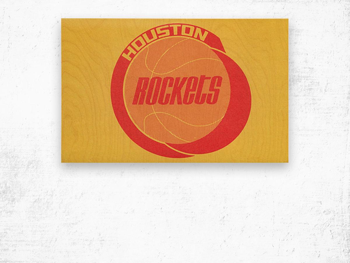 1972 Houston Rockets Art Wood print