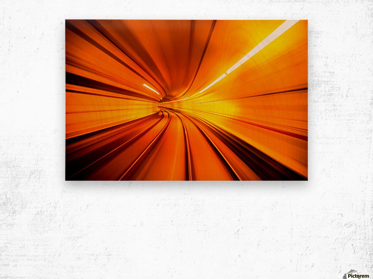 Wormhole Wood print