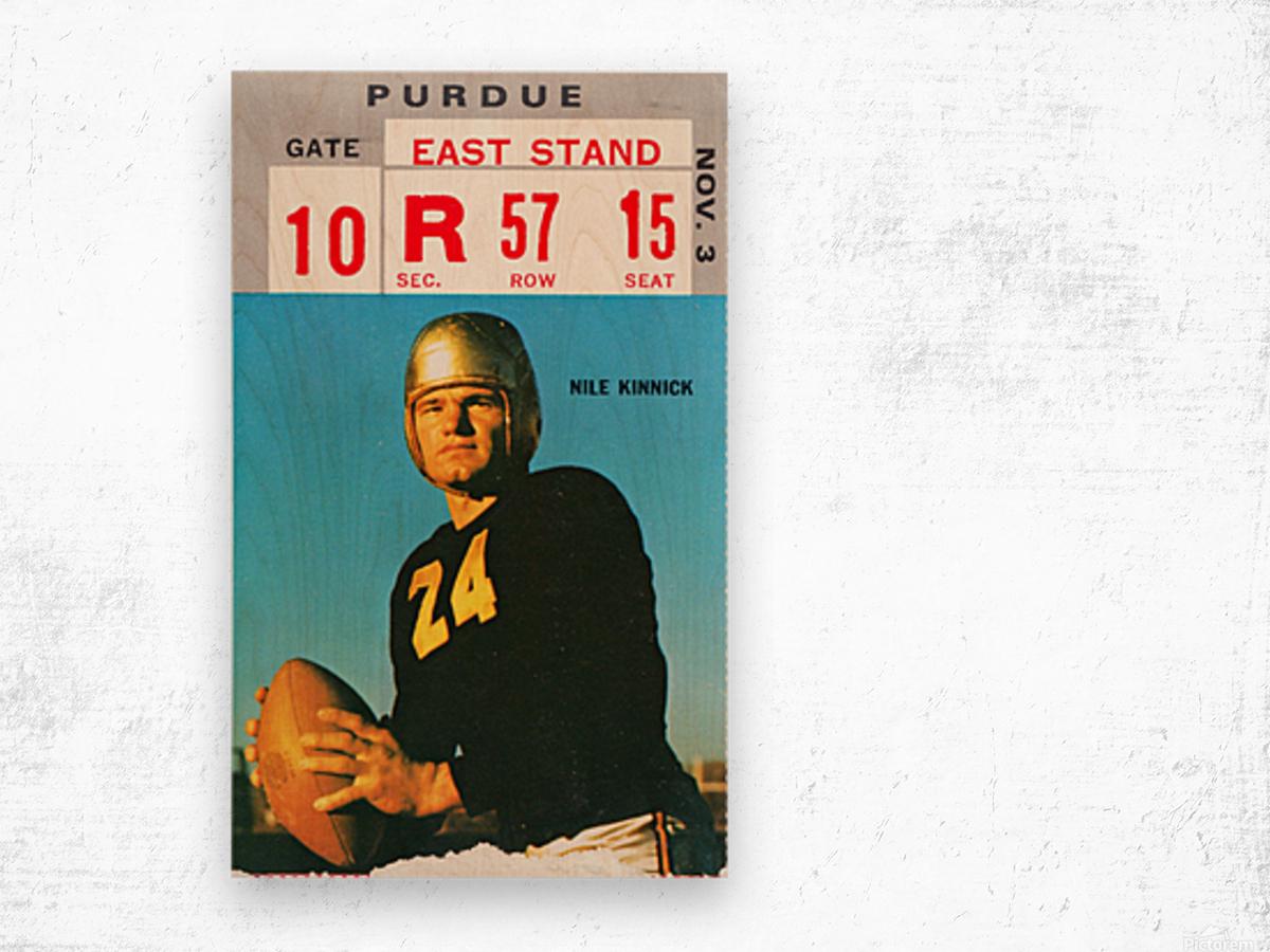 1973 Iowa Hawkeyes Nile Kinnick Ticket Stub Wood print