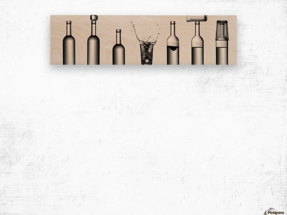 bottles game by Valeriy Kasmasov  Impression sur bois