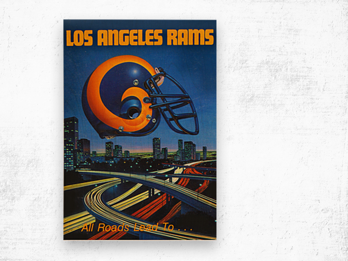 1983 Los Angeles Rams Football Poster Wood print