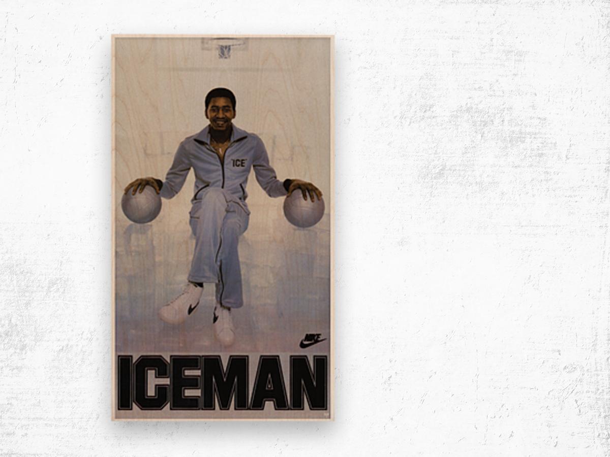 1982 George Gervin Nike Iceman Poster Wood print