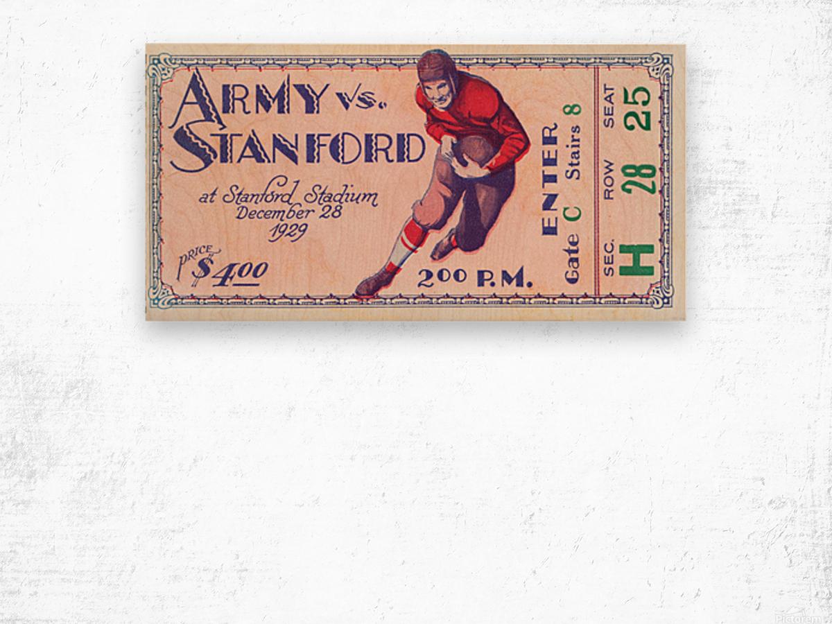 1929 Stanford Football Ticket Stub Art Wood print