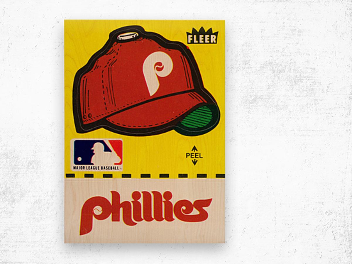 1981 Phillies Fleer Decal Wall Art Wood print