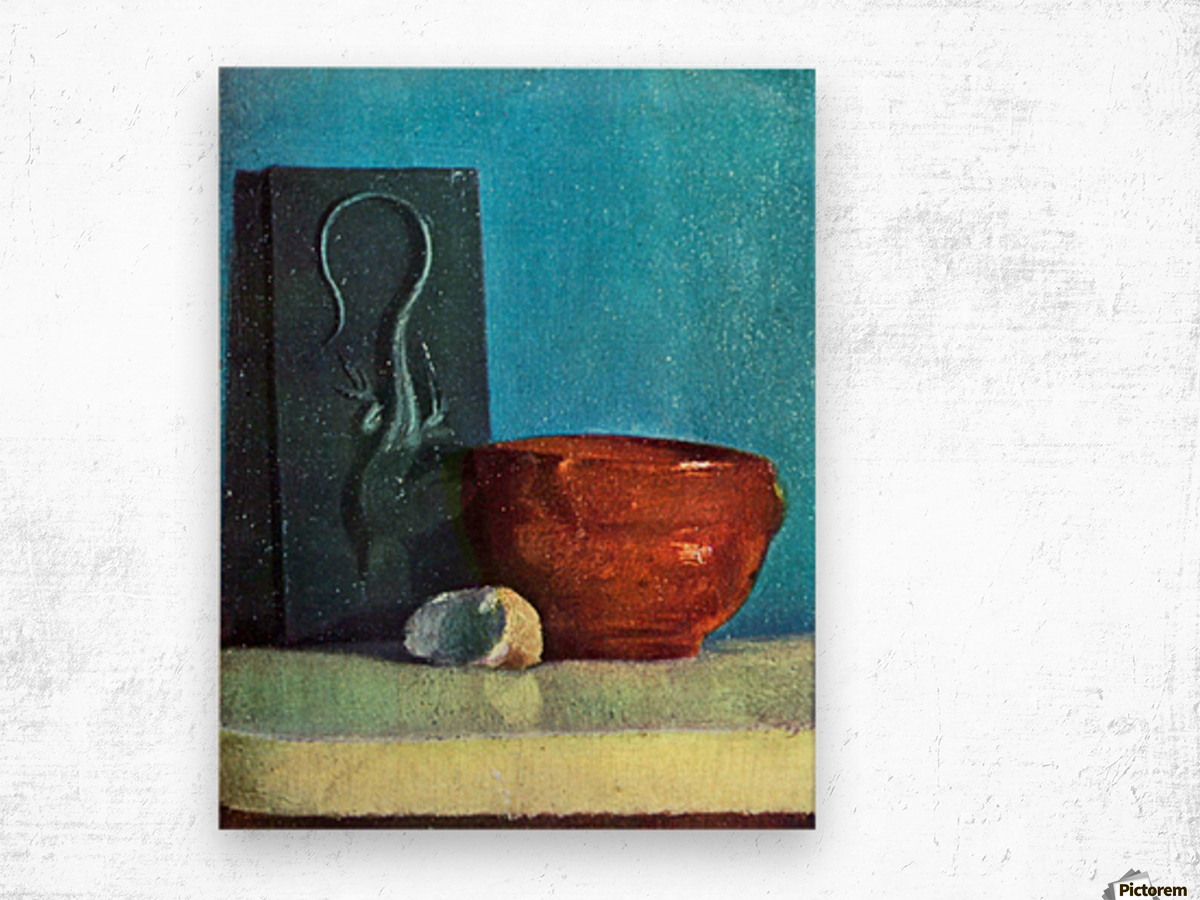 Still Life with lizard by Degas Wood print