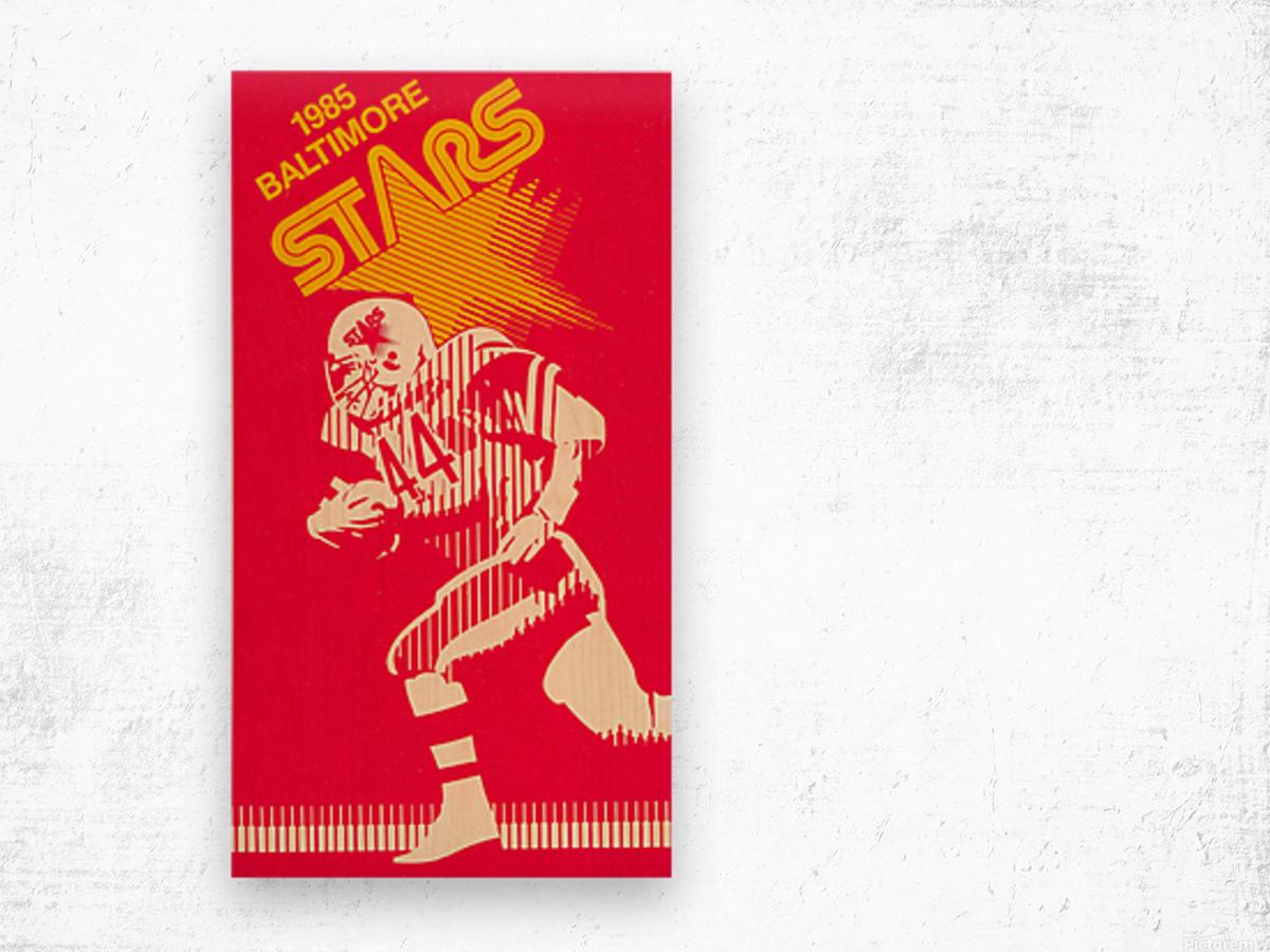 1985 Baltimore Stars USFL Football Art Wood print