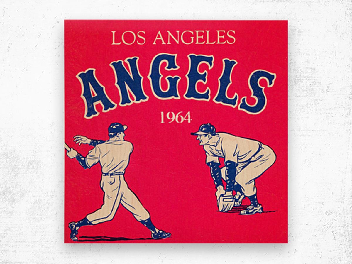 1964 Los Angeles Angels Baseball Art Wood print
