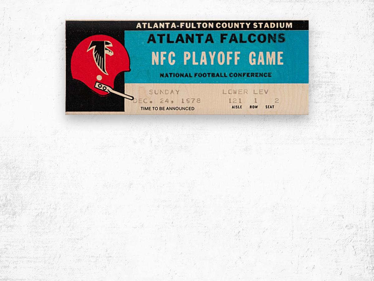 1978 Atlanta Falcons Ticket Stub Art Wood print