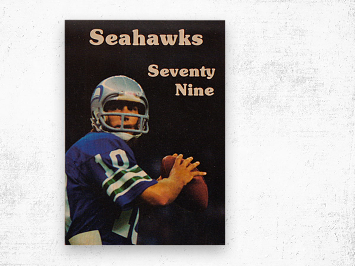 1979 Seattle Seahawks Jim Zorn Poster Wood print