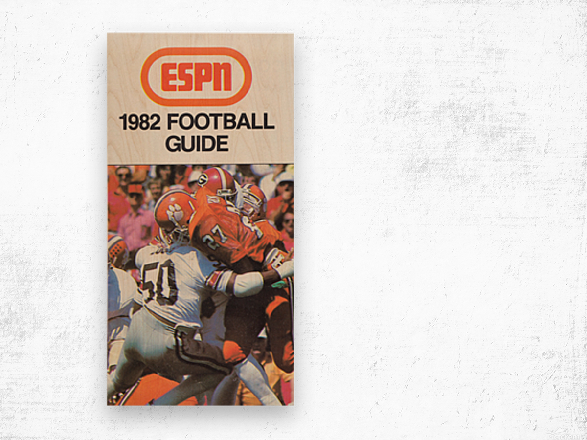 1982 ESPN College Football Guide Poster Wood print