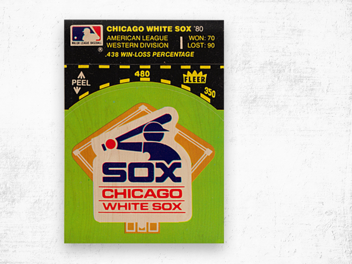 1980 Chicago White Sox Fleer Decal Wall Art Wood print