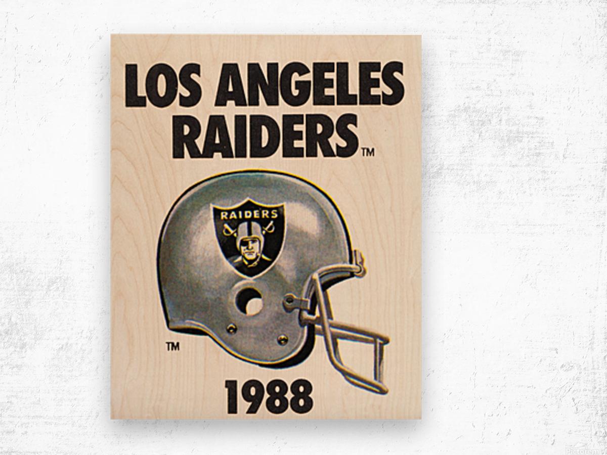 1988 Los Angeles Raiders Helmet Art Wood print