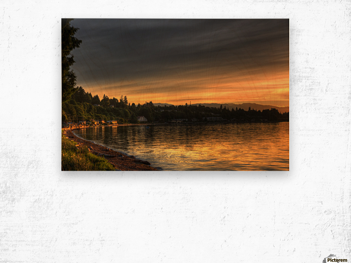 Before Sunset by Randy Hall Wood print