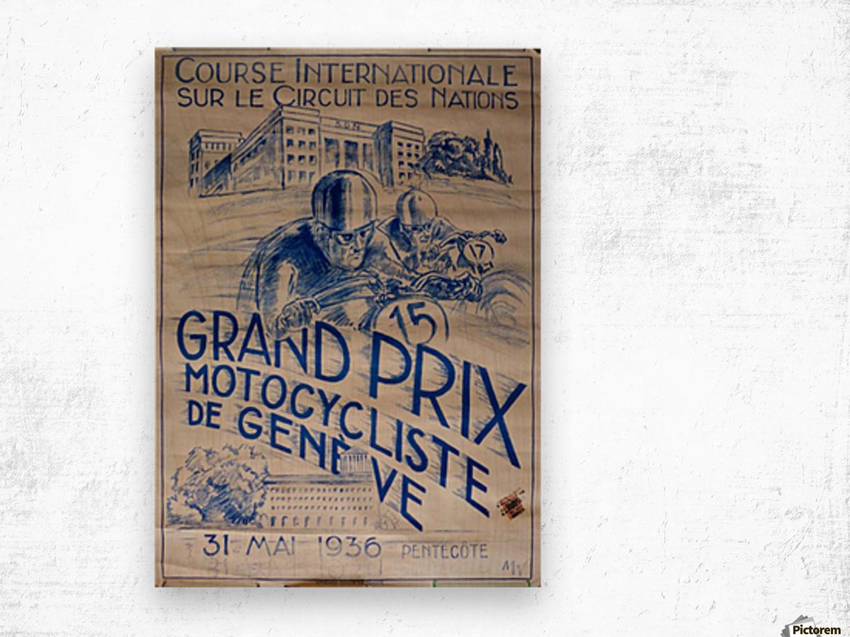 Grand Prix Motocycliste Wood print