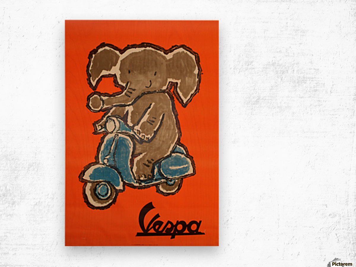 Vespa Wood print
