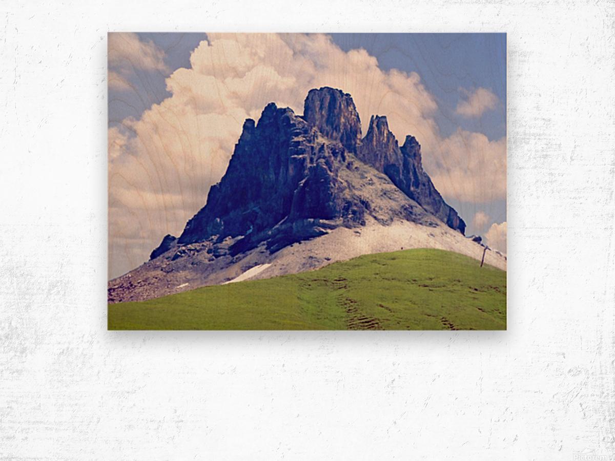 Mountain Peak in the Swiss Alps Wood print