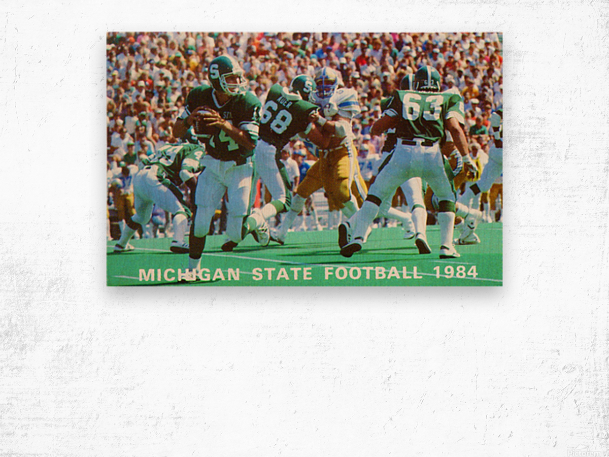 1984 Michigan State Football Poster Wood print