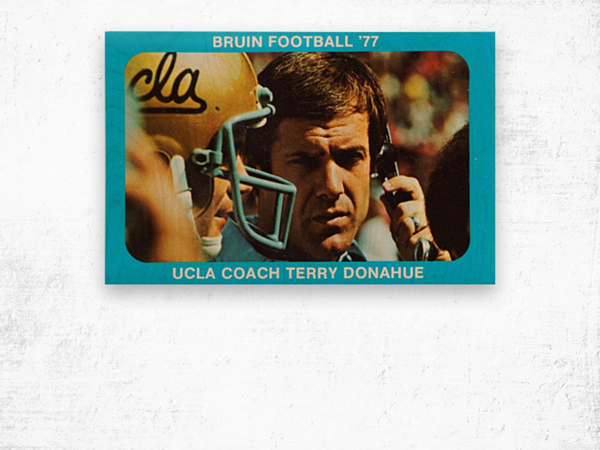 1977 UCLA Bruins Terry Donahue Football Poster Wood print