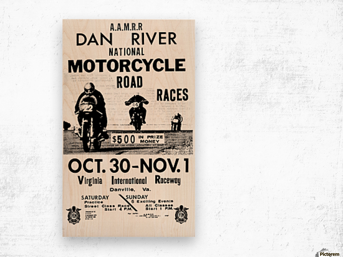 Dan River Race Wood print