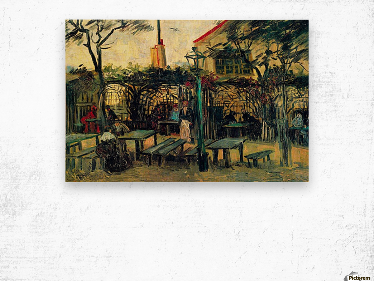 Terrace of a Cafe by Van Gogh Wood print
