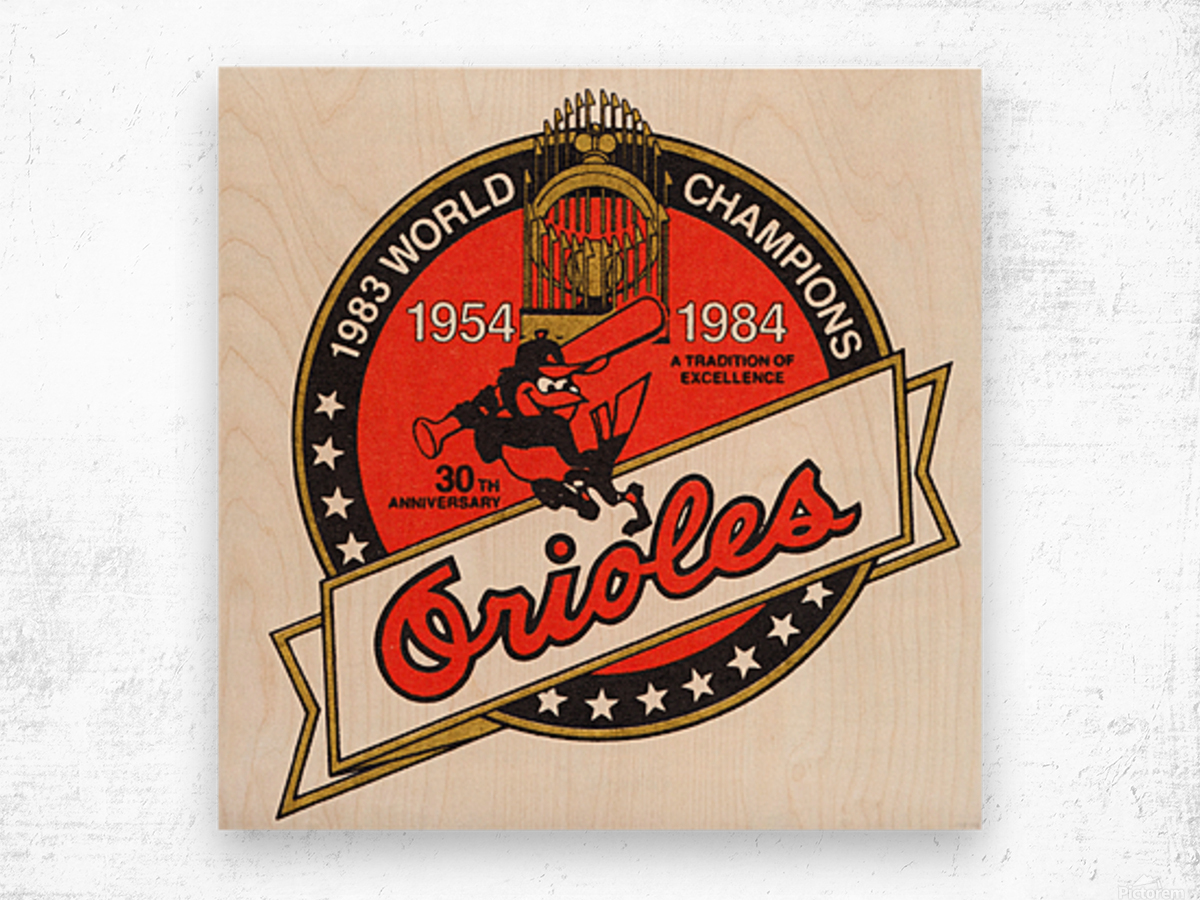 1983 Baltimore Orioles World Champions Art Impression sur bois
