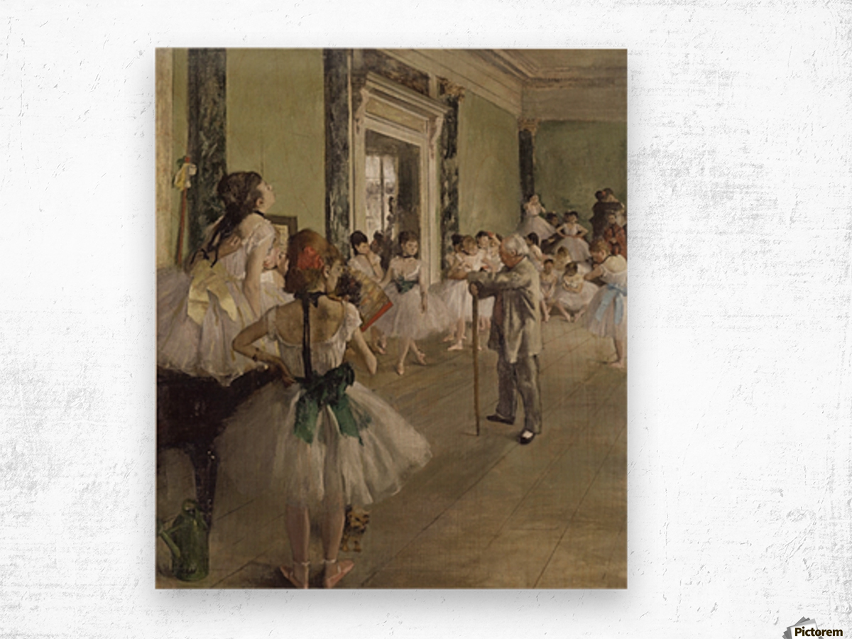 The Ballet Class by Degas Wood print