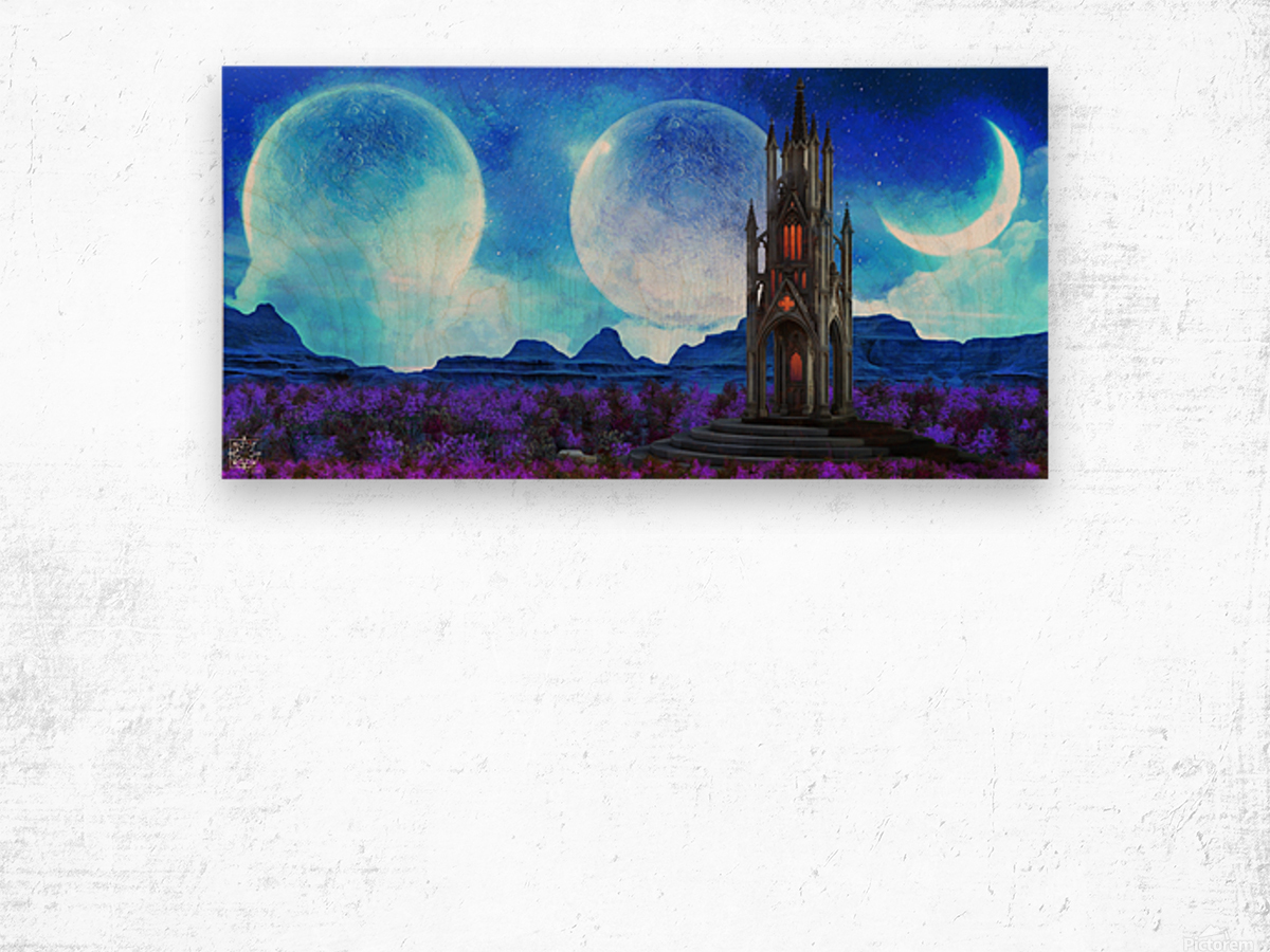 Lonely Spire Wood print