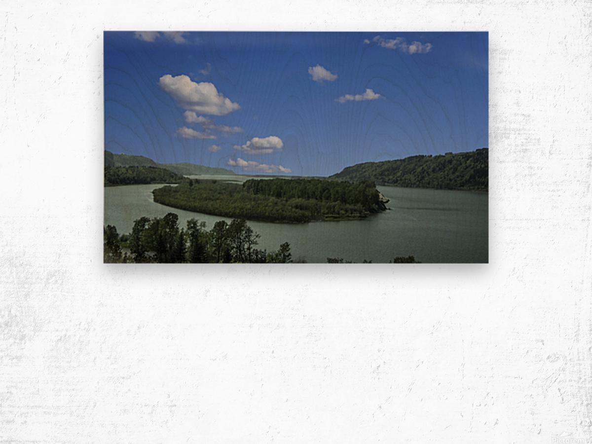 Columbia River The Gorge Oregon Panorama Wood print