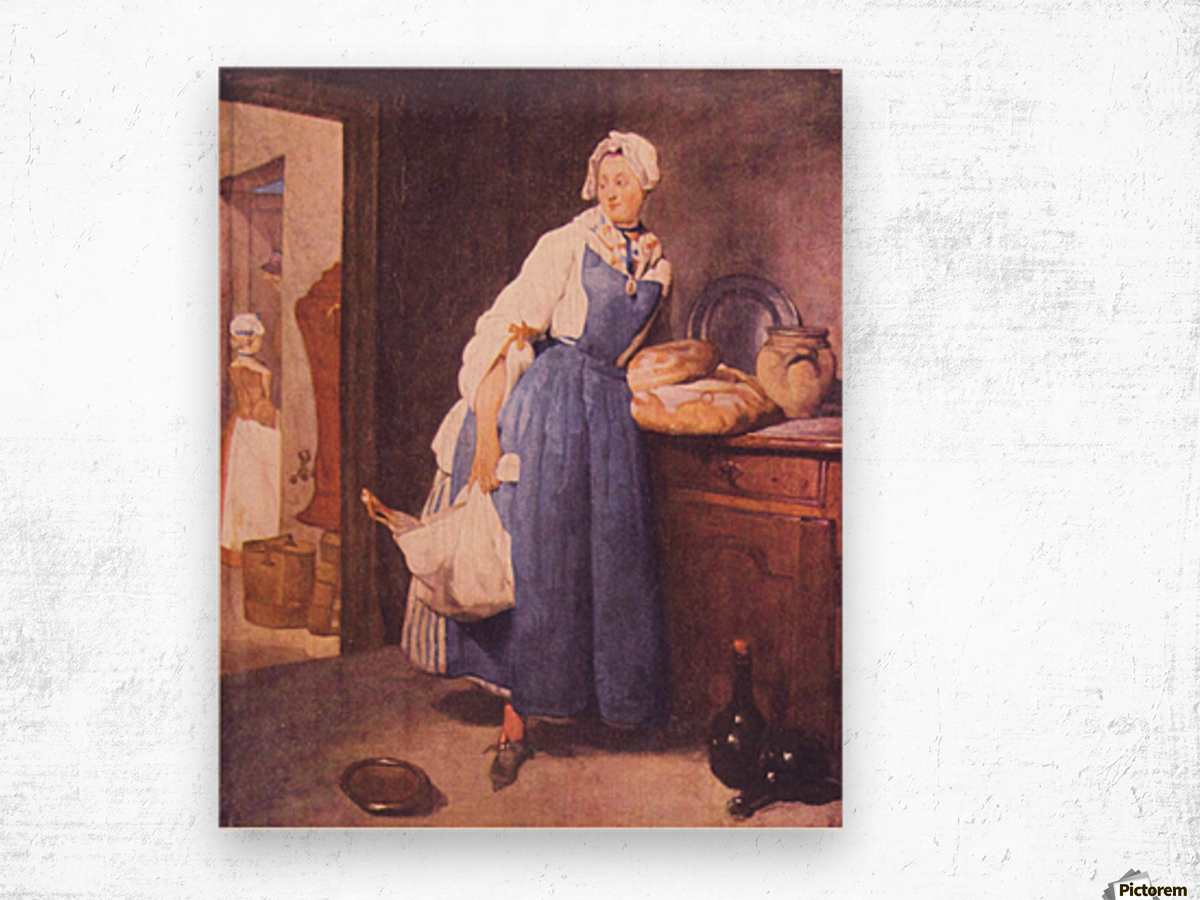 The bread by Jean Chardin Wood print