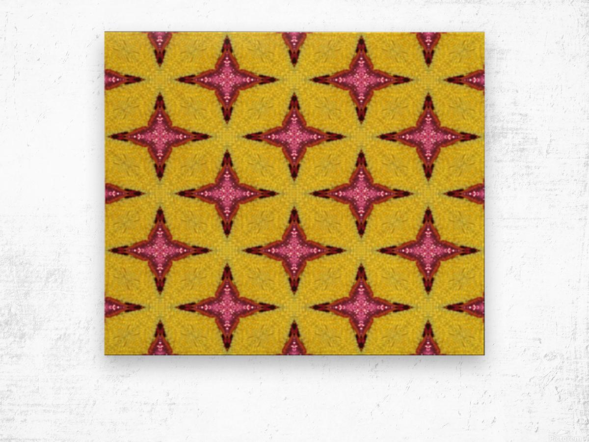 yellowpink Wood print