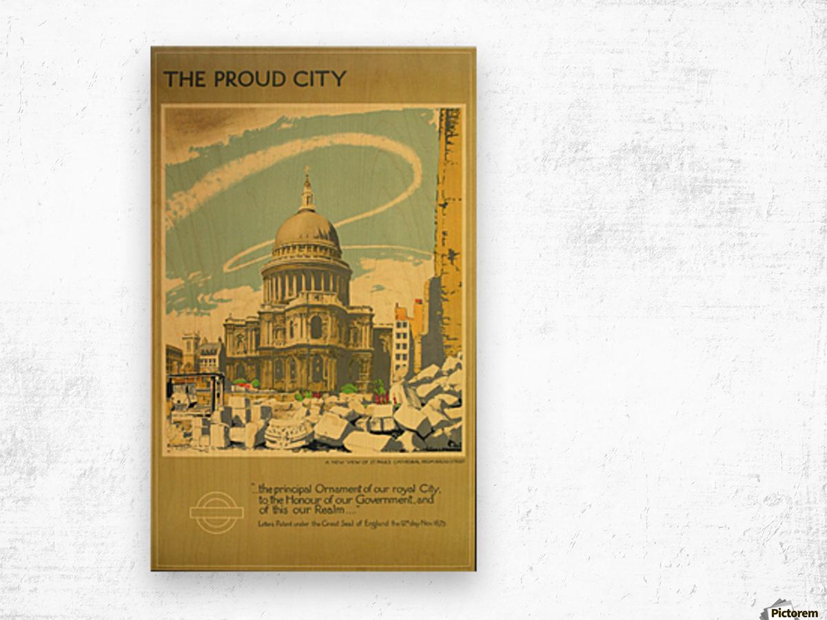 The Proud City Wood print