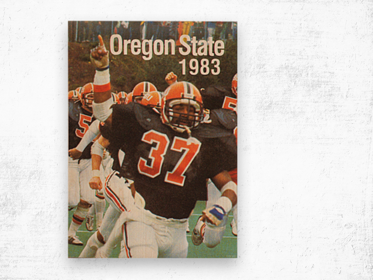 1983 Oregon State Beavers Football Poster Wood print