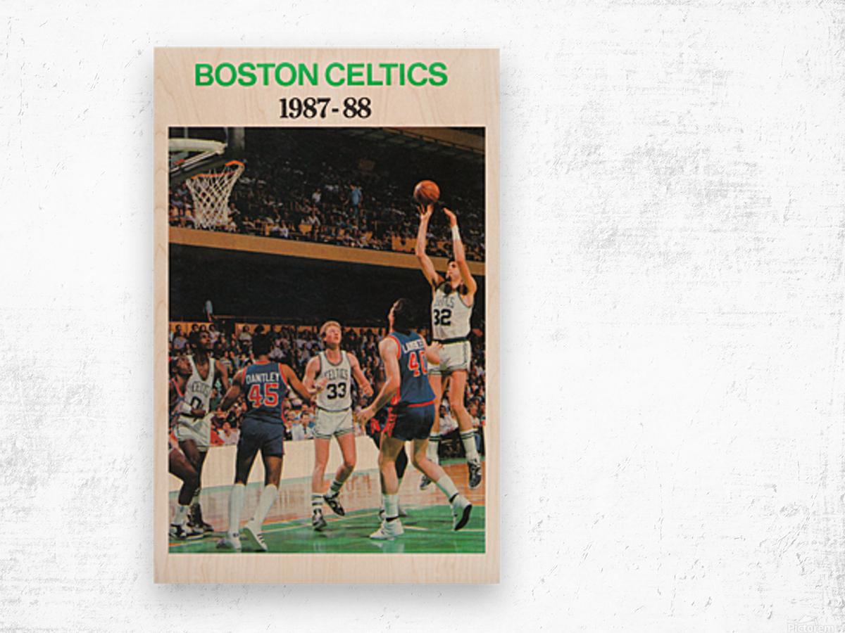 1987 Boston Celtics Larry Bird Poster Wood print
