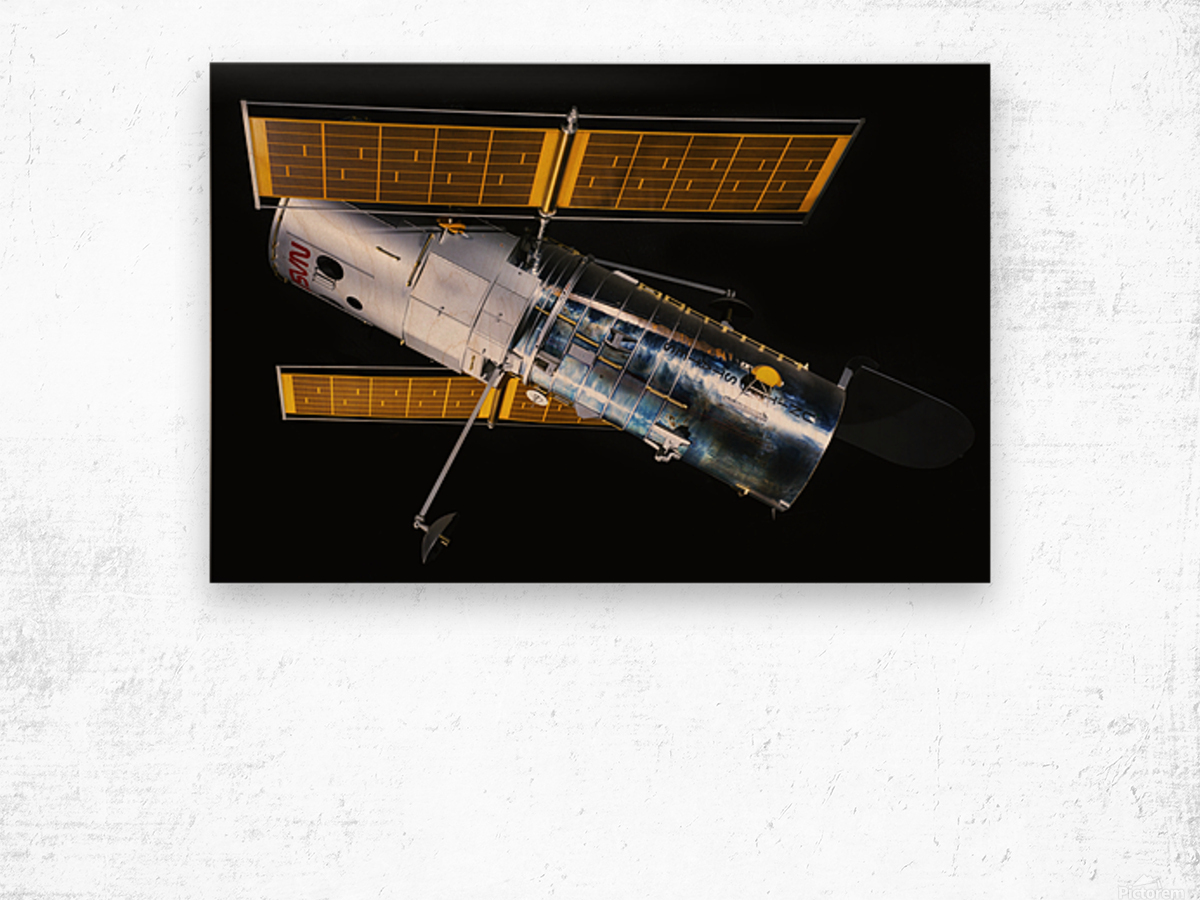 NASA Hubble Space Telescope Side - Outer Space Image Wood print