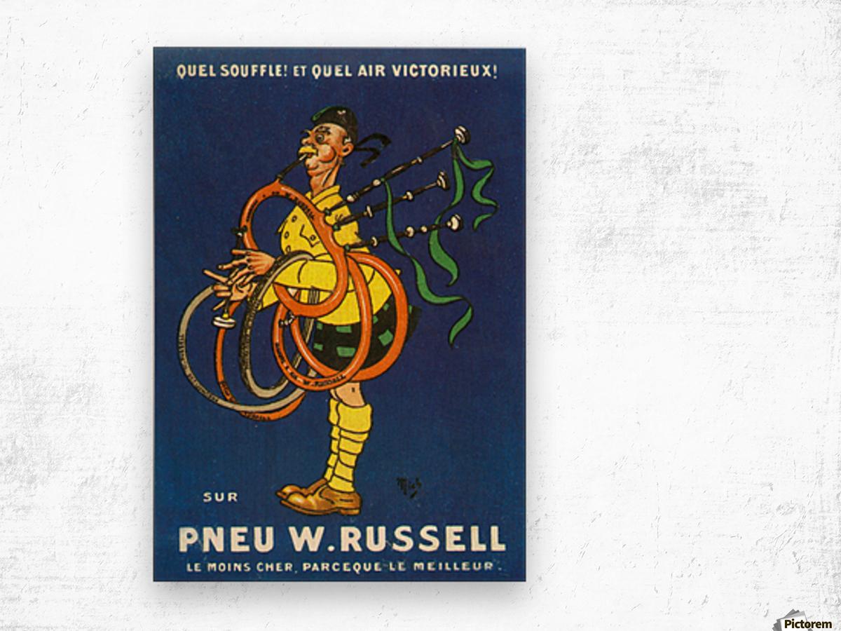 Pneu W.Russell Wood print