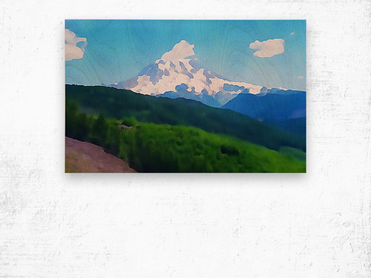 Mt. Ranier Wood print