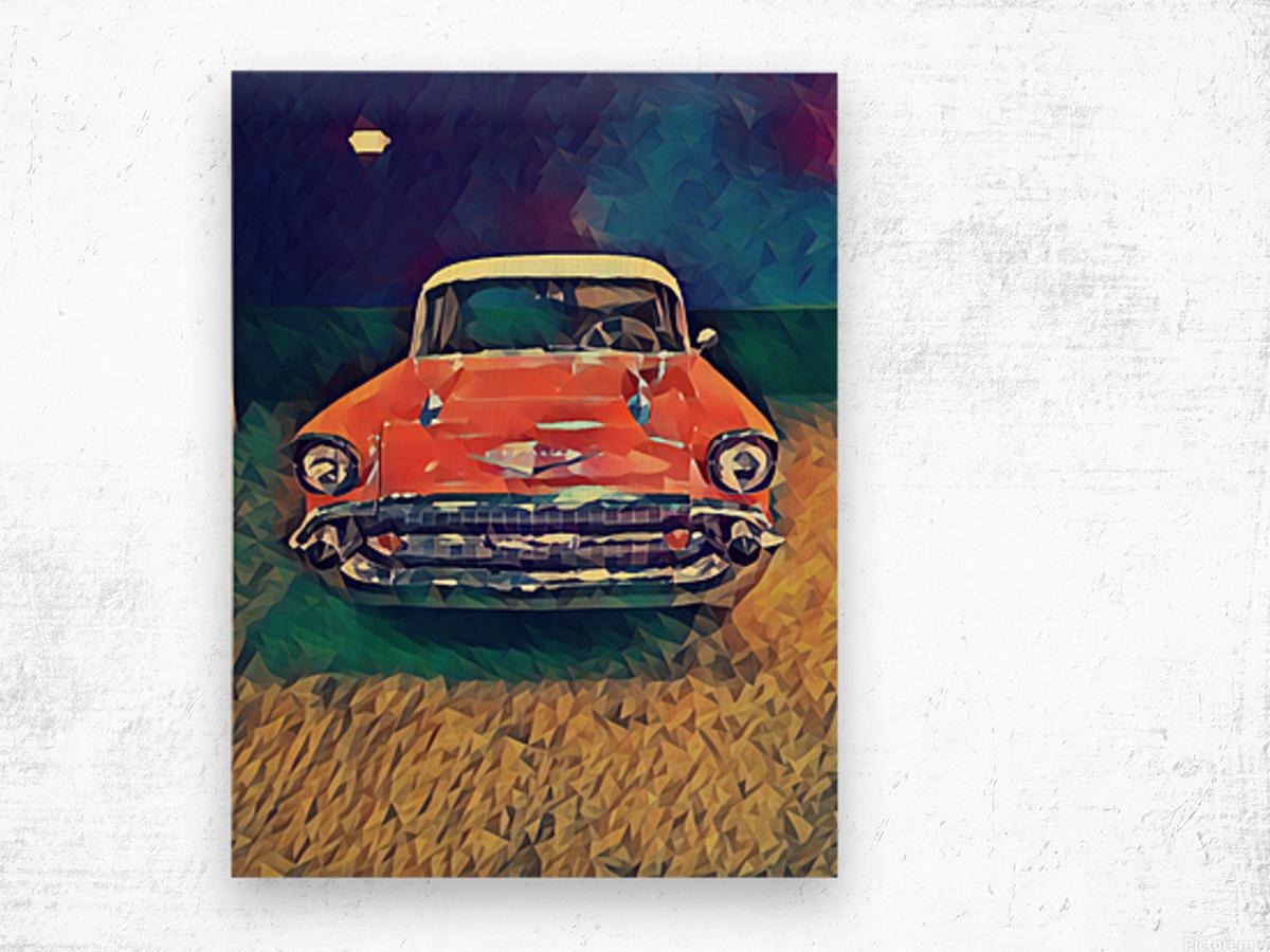 57 chevy car art Wood print