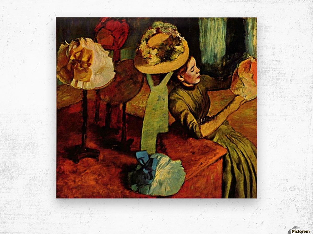 The fashion shop by Degas Wood print