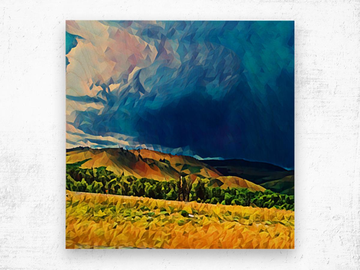 impending storm Wood print