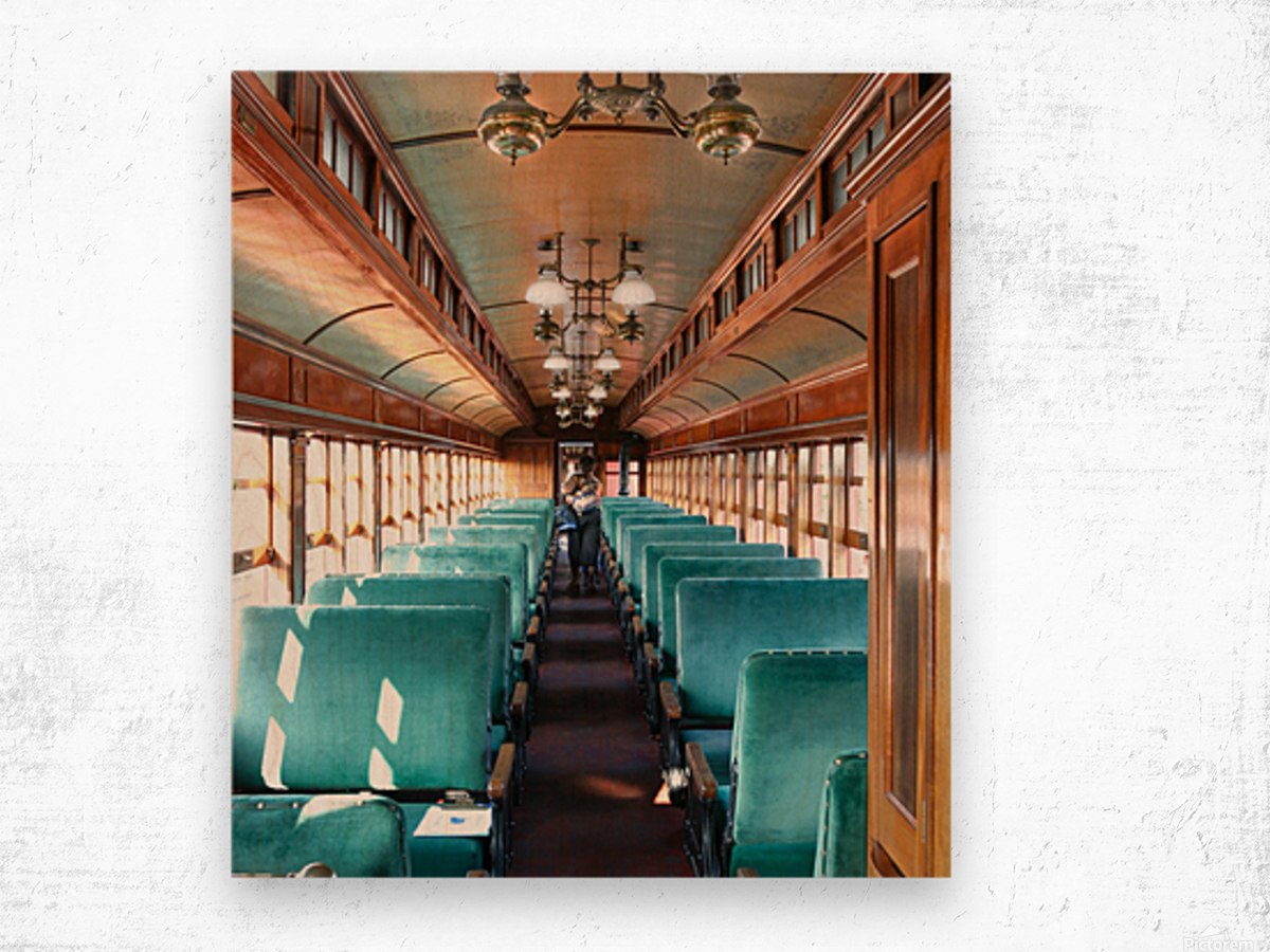 Interior of Antique Railcar. Wood print
