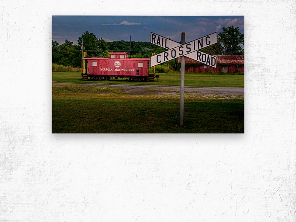 Rail Car in Exmore VA Wood print